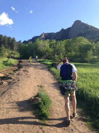 Paul Approaching the first Flat iron