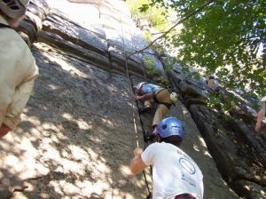 Learning to climb With Richard Parker and Jim Shimberg in the Holderness School Climbing Program