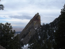 Third flatiron seen on the descent from the first