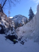View from The South Park area of the Ouray ice Park