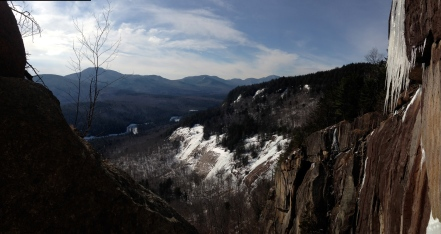 The view of Albany Slabs from the top of Way in the Wilderness