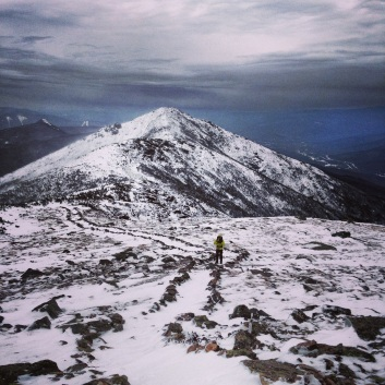 Coming across the Franconia Ridge