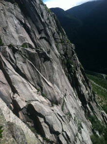 Tim and Brent on Vertigo (5.9 A0) Cannon Cliff