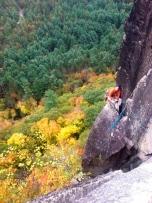 Paul Pellesier on top of the Beast Flake on Recom-beast (5.9)