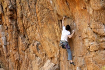 Rob Joyce on Death and Disfiguration 5.11c in the Poudre Canyon