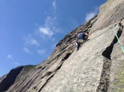 Alex skirting the half moon crack on Vertigo