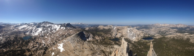 View from the summit of Cathedral Peak