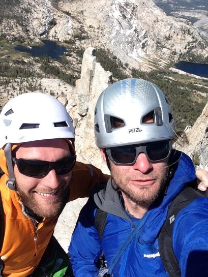 Summit selflies on top of Cathedral Peak