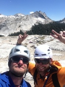 Summit selfless on top of Fairview Dome, Tuolumne Meadows