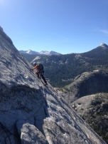 Paul leading p2 of Snake Dike on Half Dome