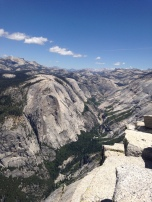 Mt Watkins from the top of Half Dome