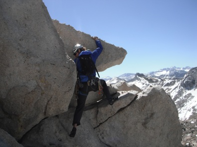Erik Thatcher on the Summit of Cathedral Peak in Tuolumne Meadows