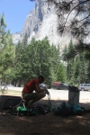 Sorting gear beneath El Cap