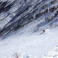 Clients skiing Hilmans Highway