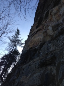 The gorgeous Orange Rock of Beat Junkie. This is a favorite early season route of mine as it builds strength fast and isn't overly tweaky. Not to mention its  a blast!