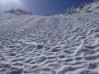 Sun effects on alpine snow