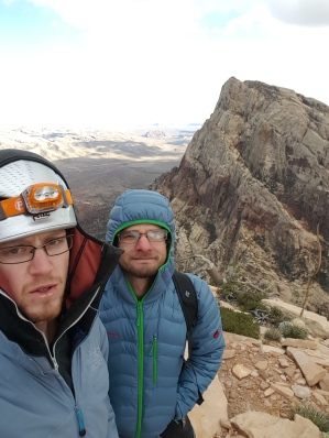 Cold and chapped on top of the Eagle Wall, Nevada