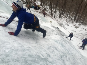 A lap without tools forces students to gain confidence in their crampons